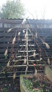 zelfgemaakte kerstboom klein